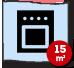Cozinha com 15m²